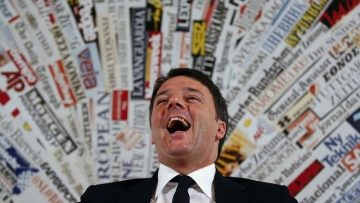Italy s Prime Minister Matteo Renzi reacts during a news conference with foreign press in Rome  Italy  February 22 2016     REUTERS Alessandro Bianchi