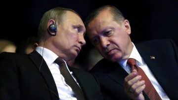 FILES  This file photo taken on October 10  2016 shows Turkish President Recep Tayyip Erdogan  R  talking with his Russian counterpart Vladimir Putin during the opening ceremony of the 23rd World Energy Congress in Istanbul  Turkey    Turkish President Recep Tayyip Erdogan and his Russian counterpart Vladimir Putin agreed on December 14  2016 in a phone call that violations of a ceasefire deal agreed for the Syrian city of Aleppo should stop  Turkish presidential sources said   In the phone call  they stressed that the ceasefire agreement secured yesterday night should be put into practice  and  the violations of the deal must be stopped   the sources said     AFP PHOTO   TURKISH PRESIDENTIAL PRESS OFFICE   KAYHAN OZER   RESTRICTED TO EDITORIAL USE - MANDATORY CREDIT  AFP PHOTO   KAYHAN OZER TURKISH PRESIDENTIAL PRESS OFFICE  - NO MARKETING NO ADVERTISING CAMPAIGNS - DISTRIBUTED AS A SERVICE TO CLIENTS